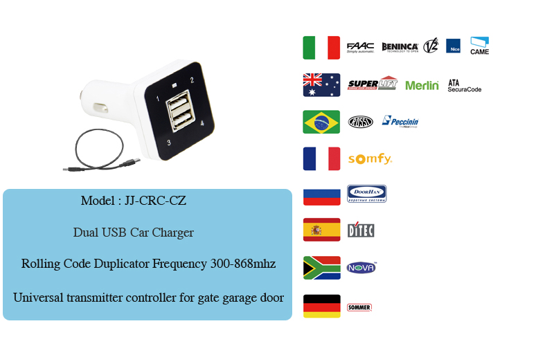 USB Open Charge Multifrequency Remote For Car Using